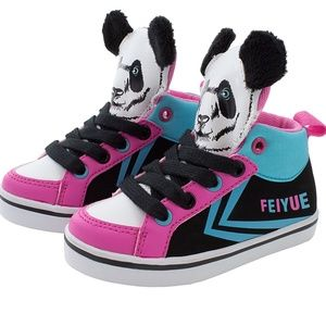 Feiyue Delta Mid sneakers with panda face Baby 4